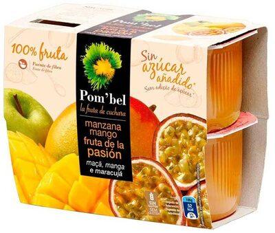 Compota de manzana, mango y fruta de la pasión