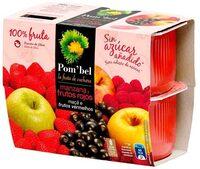 Compota de manzana y frutos rojos - Product - es