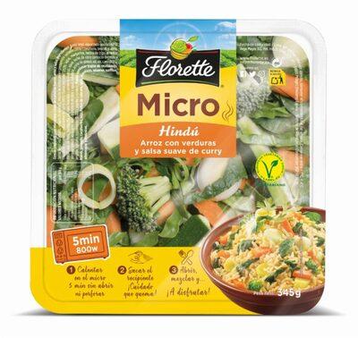 Micro: hindú arroz con verduras y salsa de curry - Producto