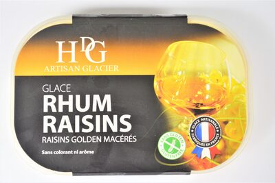 Glace RHUM RAISINS, raisins gloden macérés - Product
