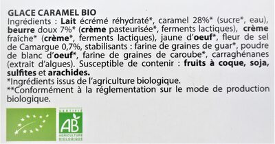 Glace CARAMEL BIO - Ingredients - fr