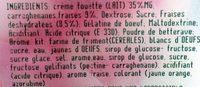 Bavaroise Fraise - Ingrédients