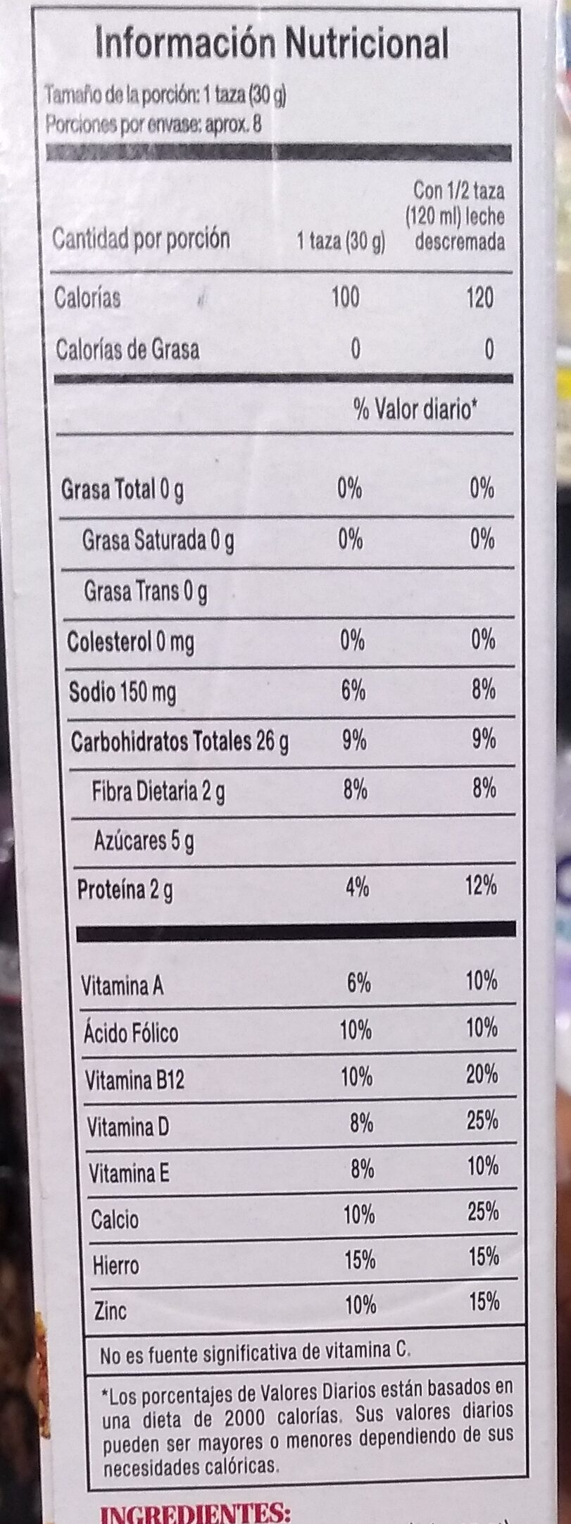 Kellogg's Special - Nutrition facts