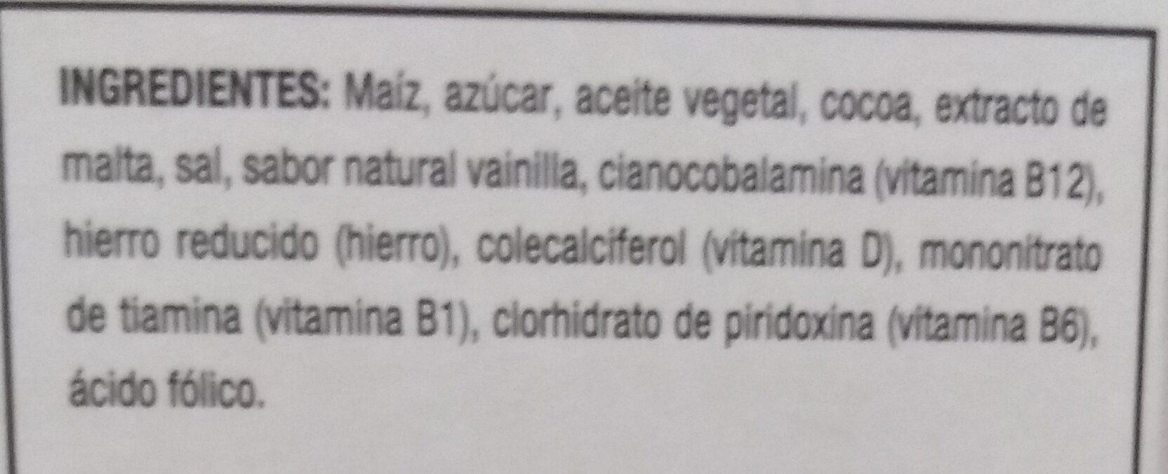 Zucaritas Sabor Chocolate - Ingrédients