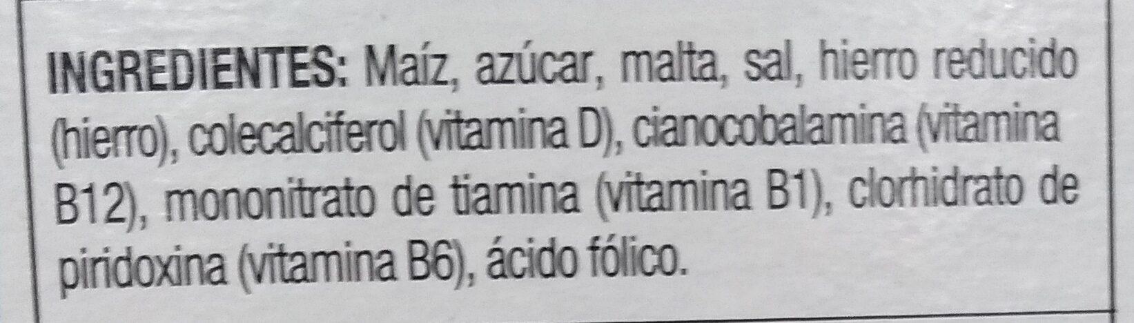 Zucaritas - Ingrédients