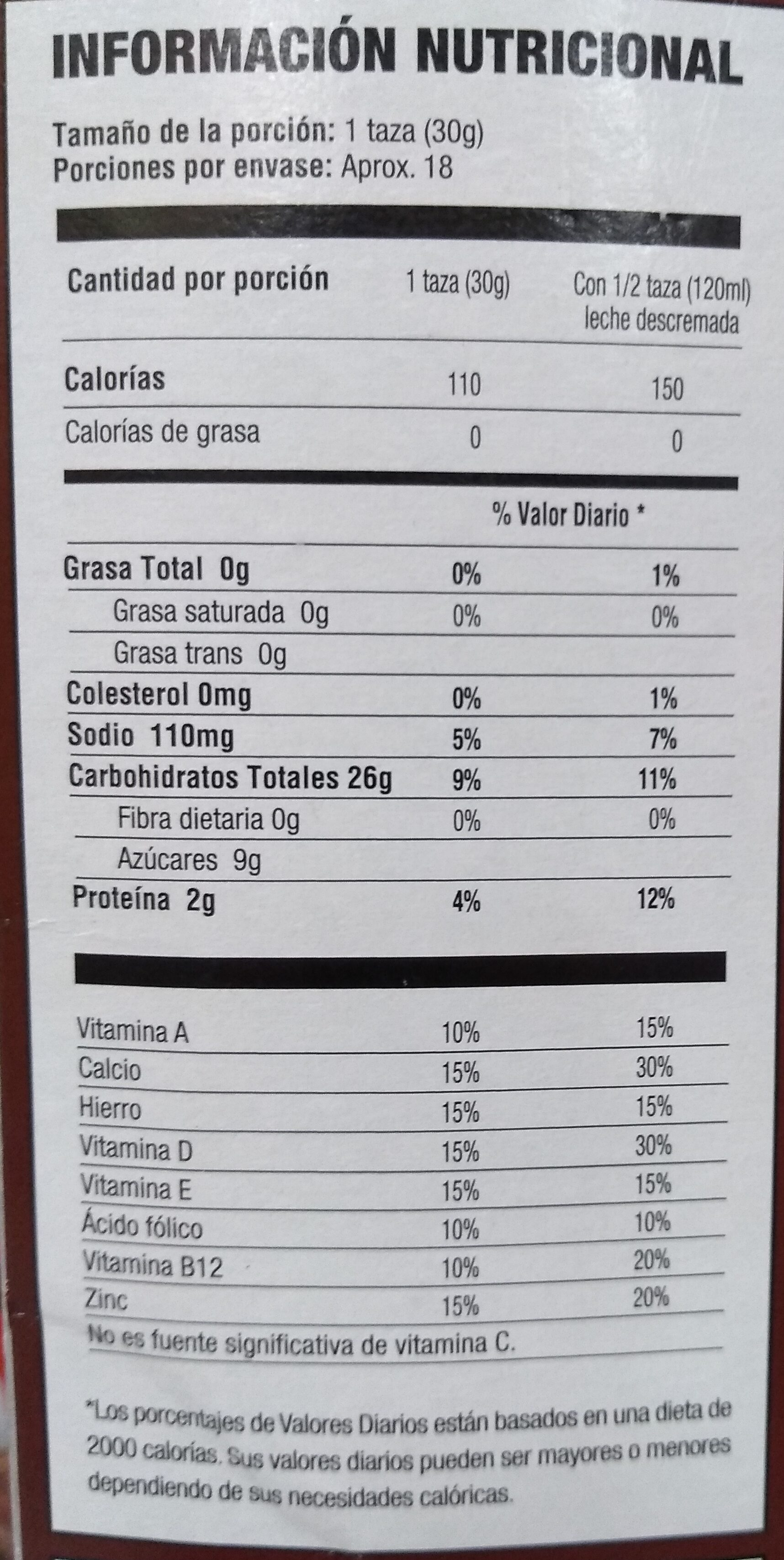 Choco Krispis - Nutrition facts - es