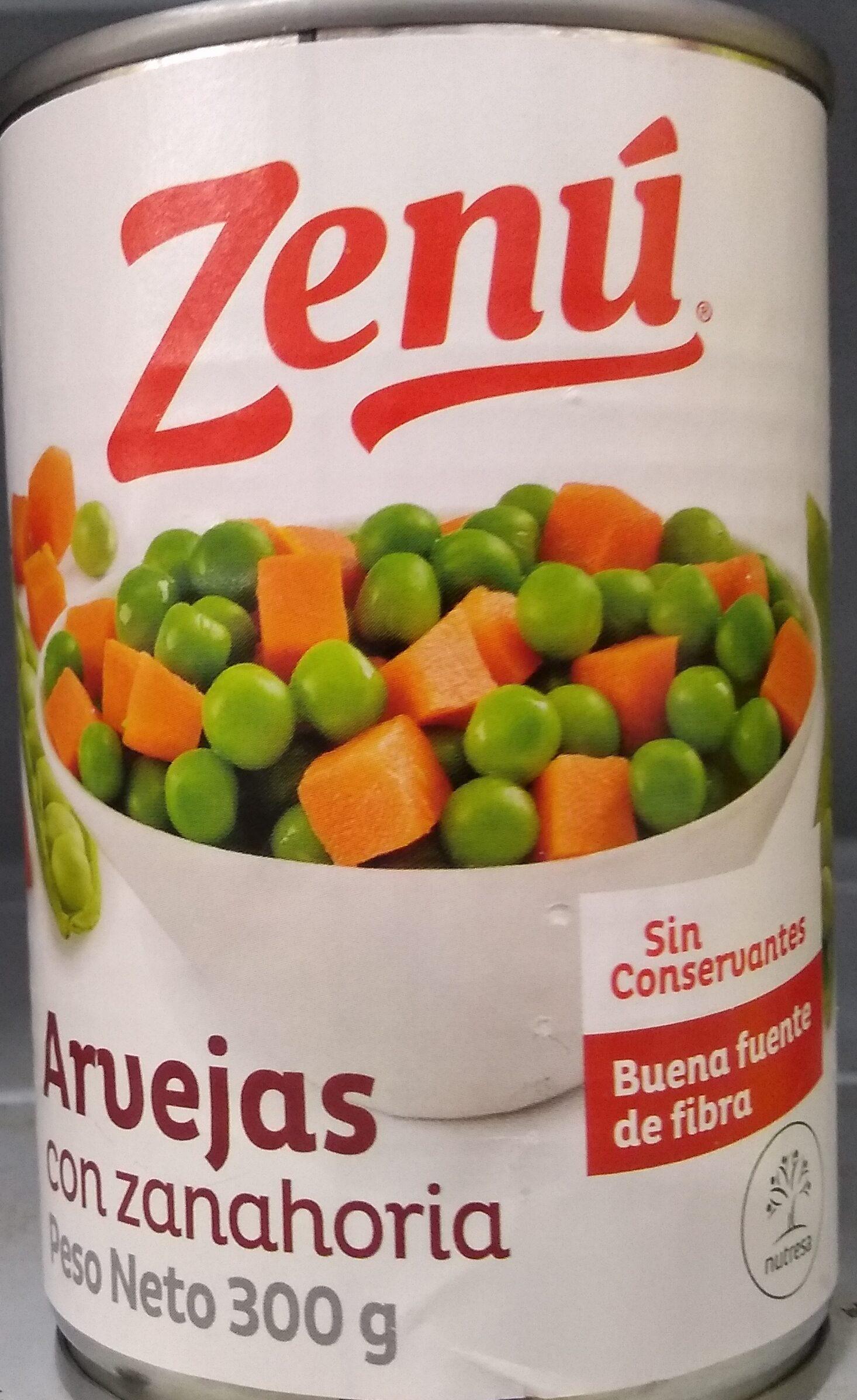 Arvejas Con Zanahoria Zenu 300 G Arvejas con tomate y zanahoria una rica ensalada que podemos comer templada o fría, ideal como entrante o acompañamiento de una comida. https creativecommons org licenses by sa 3 0