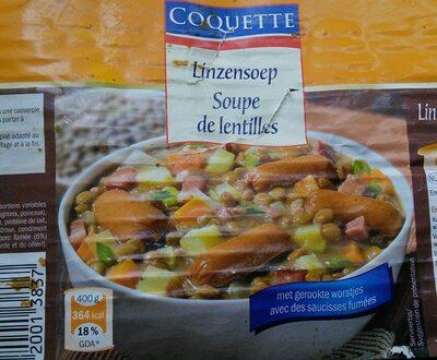 Coquette - Soupe de lentilles - Product - fr