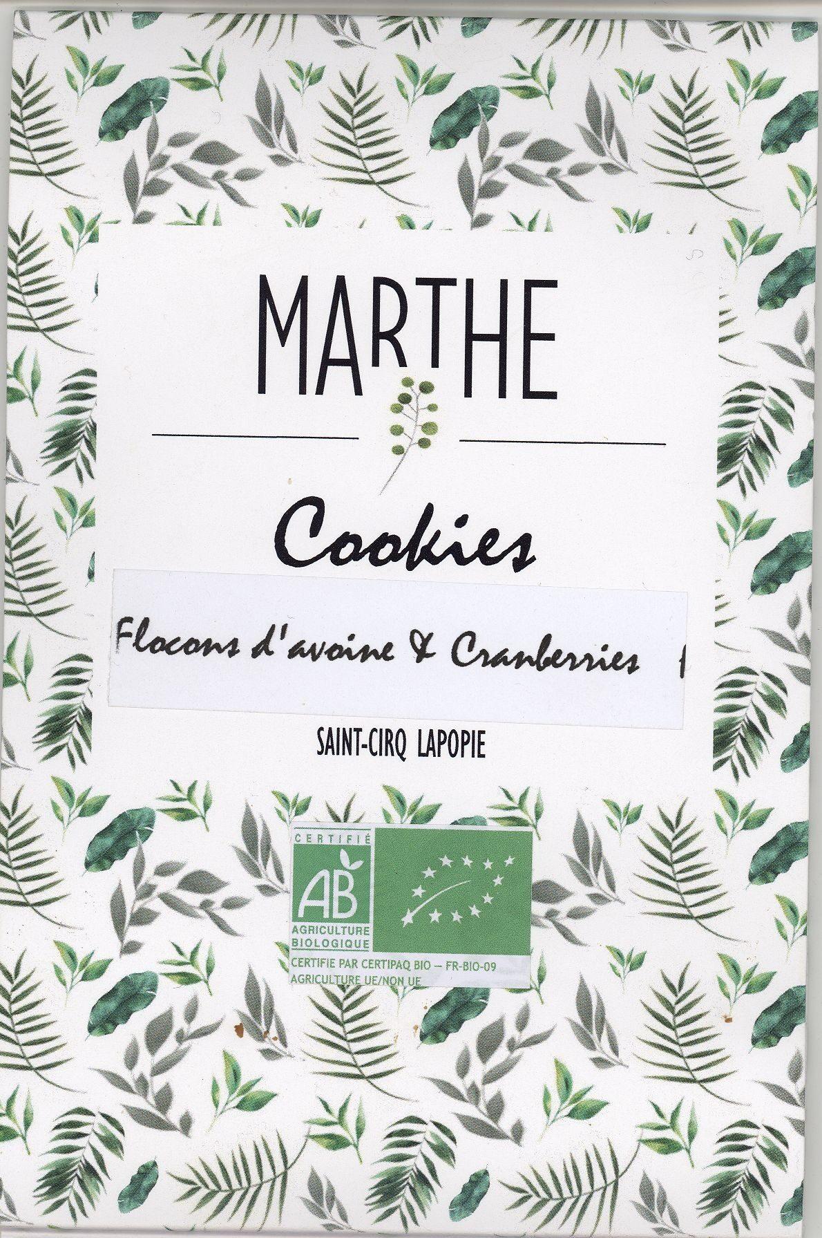 Cookies Flocons d'avoine & Cranberries - Product - fr