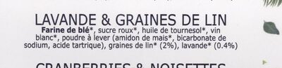 Croquants, lavande & graines de lin - Ingredients