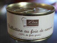 Ballottine au foie de canard - Produit - fr