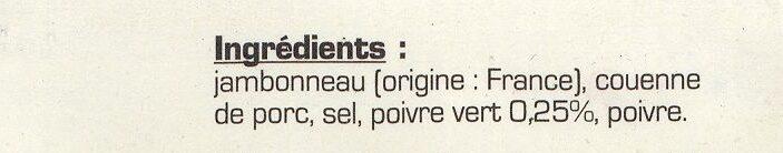Jambonneau au poivre vert - Ingrédients - fr