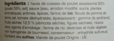 Tajine de poulet aux fruits séchés - Ingredients - fr