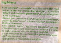 Baguette u bio 250g - Ingredienti - fr