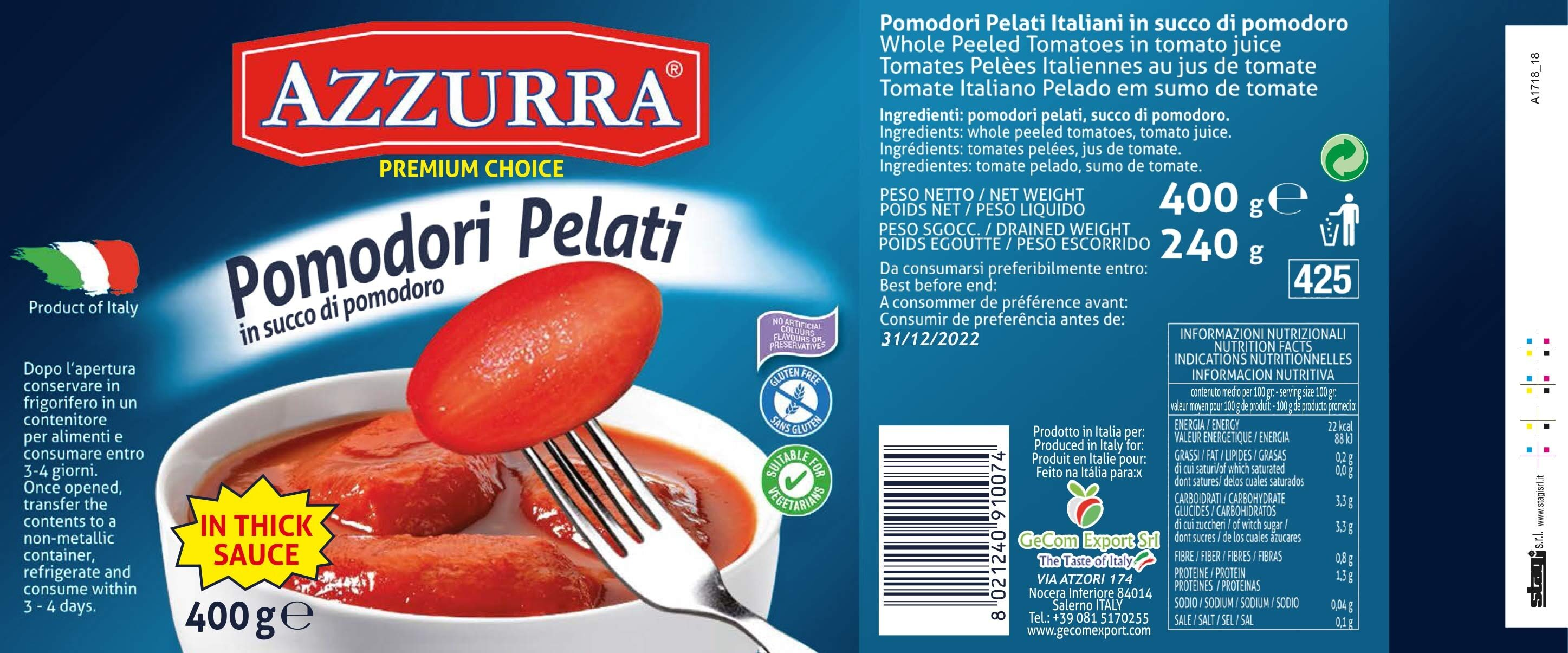 Whole Peeled Tomatoes in Tomato Juice - Product - en