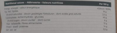 repas buvable - Valori nutrizionali - fr