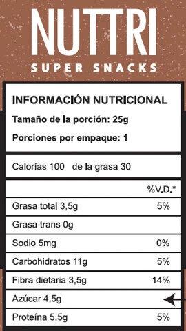 Nuttri Barra Super Snacks - Ingrédients - en