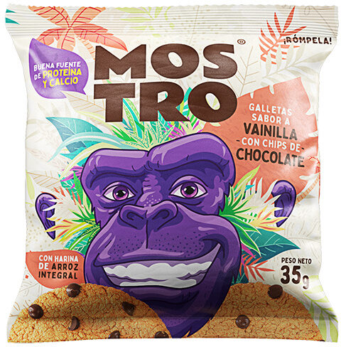 Galleta Vainilla Chips de Chocolate Mostro - Recycling instructions and/or packaging information - en