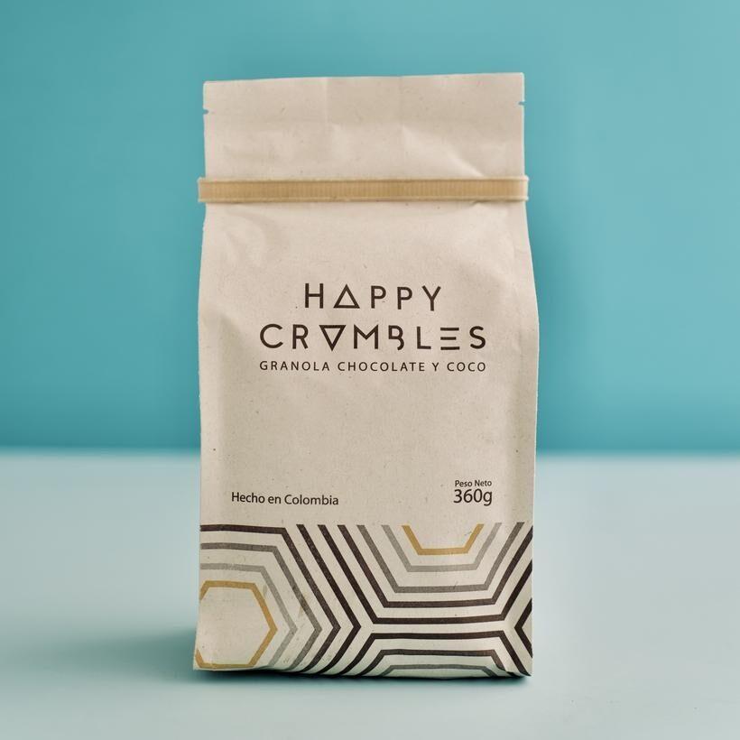 Happy Crumbles Granola de Almendras y Arándanos 40 g (Op Coco y chocolate) - Recycling instructions and/or packaging information - en