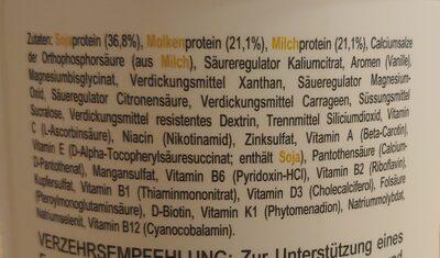 Triple Protein Shake Vanillegeschmack - Ingredients - de