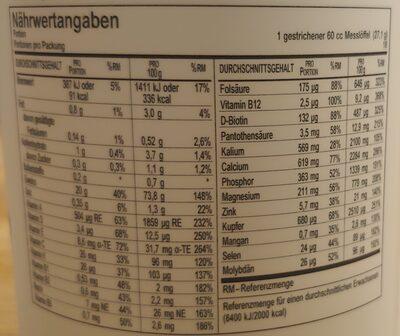Triple Protein Shake Vanillegeschmack - Nutrition facts - de