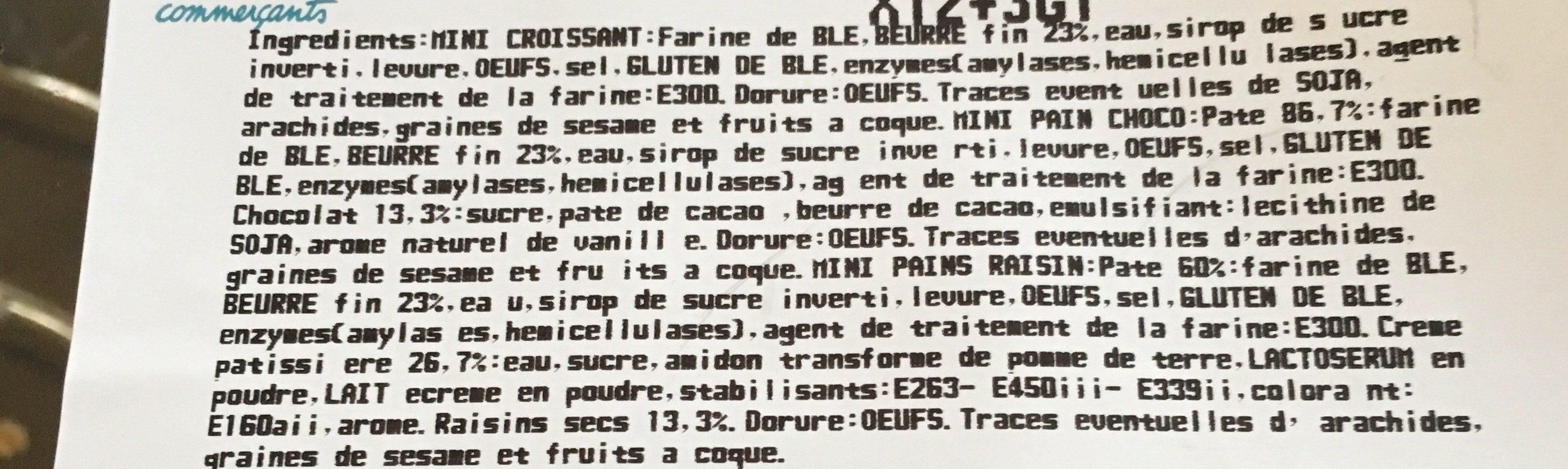Assortiment mini viennoiserie pur beurre U - Ingredients