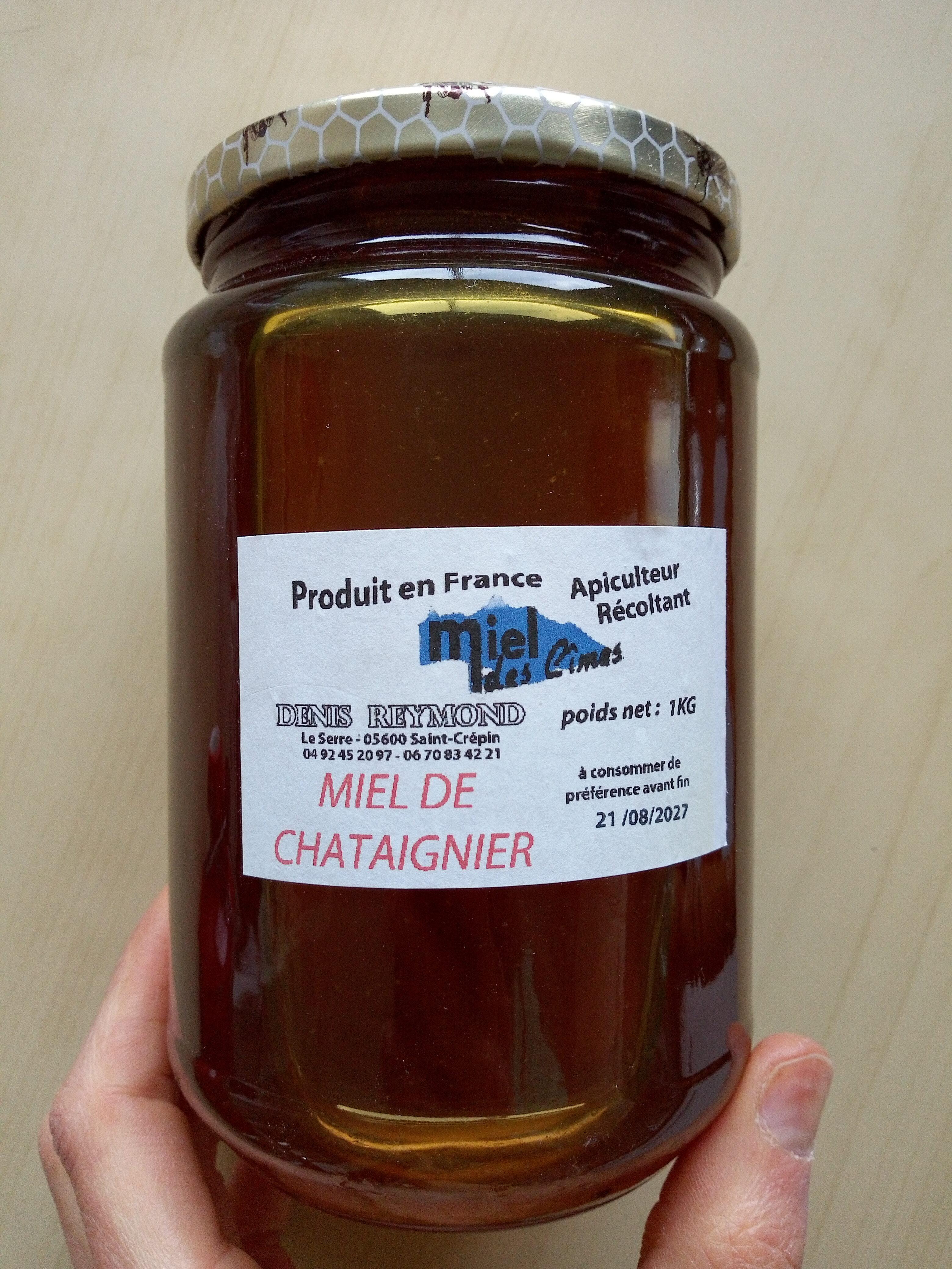 Miel de châtaignier - Instruction de recyclage et/ou informations d'emballage - fr