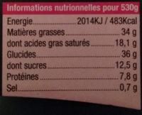 Galette des Rois - Nutrition facts