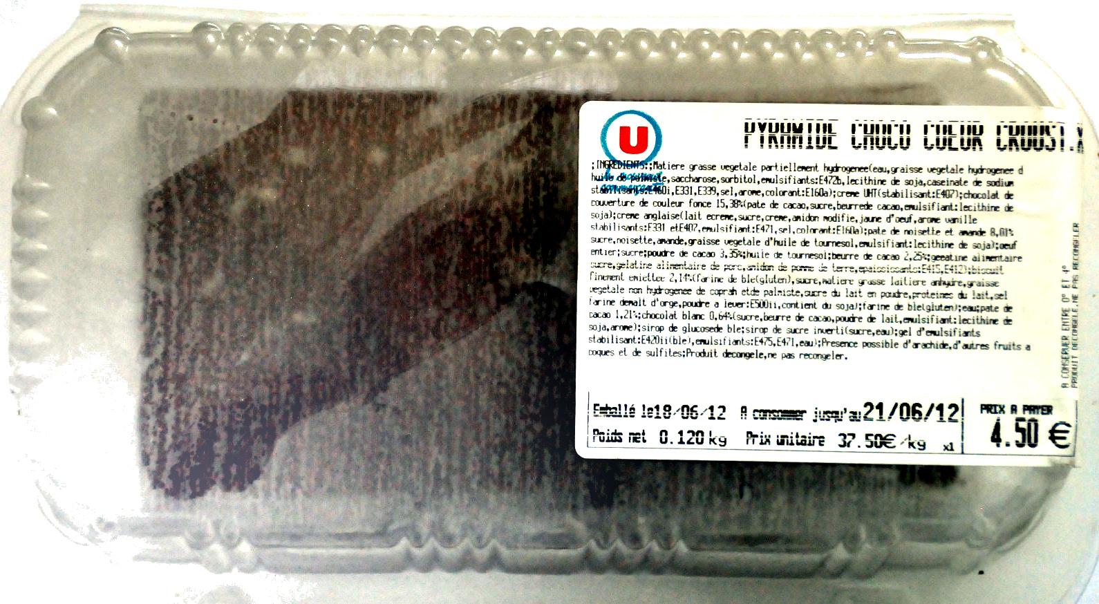Pyramide choco coeur croustillant - Product