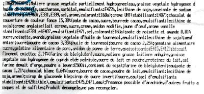 Pyramide choco coeur croustillant - Ingrédients - fr
