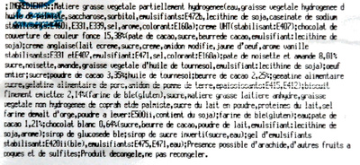 Pyramide choco coeur croustillant - Ingrédients