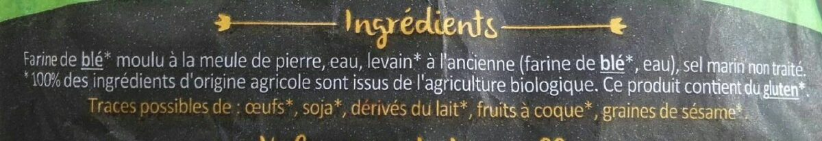 Pain campagne bio - Ingredients - fr