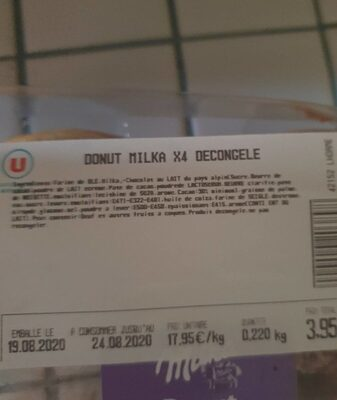 Donut - Nutrition facts - fr