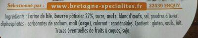Palets Bretons - Ingrediënten - fr