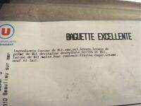 Baguette L'Excellente - Ingredienti - fr
