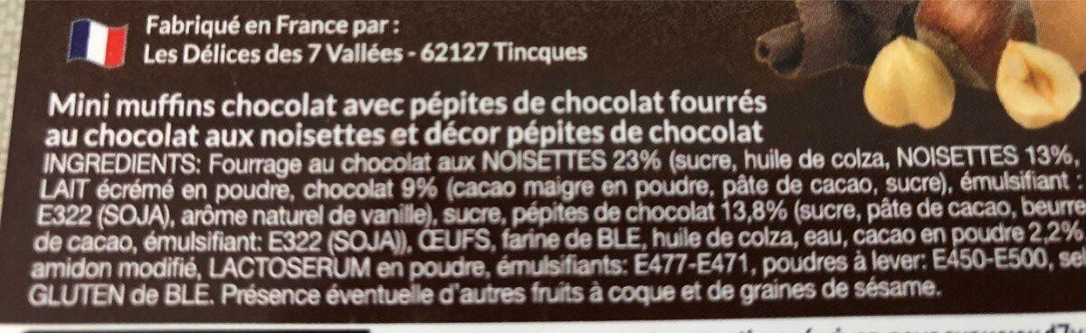 mini muffins coeur fondant - Ingrédients - fr