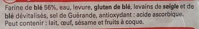 Baguette, Sélection U, 1 pièce - Ingrediënten