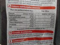 Baguette, Sélection U, 1 pièce - Voedingswaarden