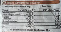 Baguette de campagne - Valori nutrizionali - fr
