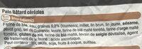 Pain batard céréales, sélection U, 1 pièce - Ingredients
