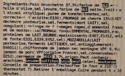 Bruschetta chèvre, jambon cru et noix - Ingrediënten