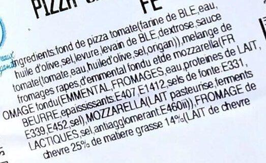 Pizza chèvre lardons - Ingrediënten - fr