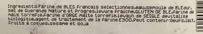 Baguette Avellann 250g - Ingrediënten