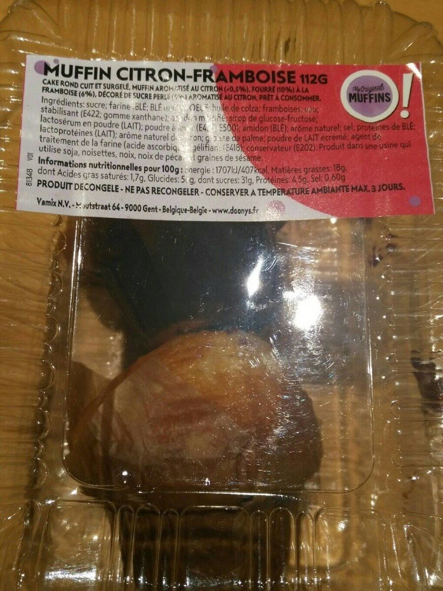 Muffin citron framboise - Produit - fr
