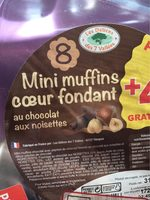 Mini muffins coeur fondant chocolat noisettes - Product