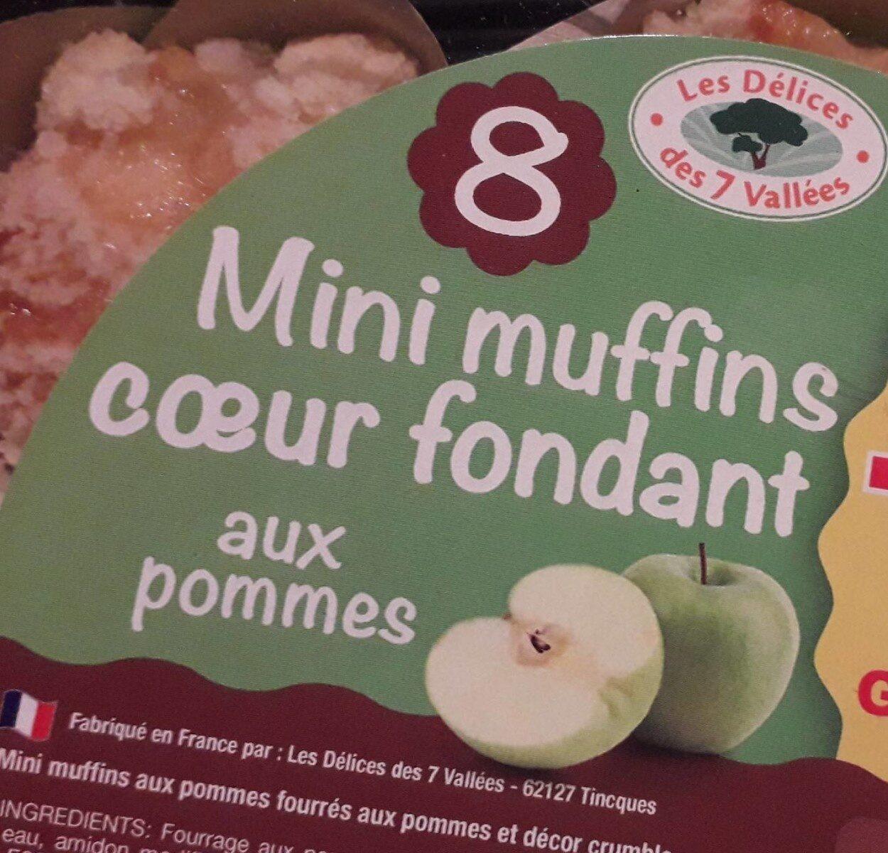 Mini muffins coeur fondant aux pommes - Produit - fr