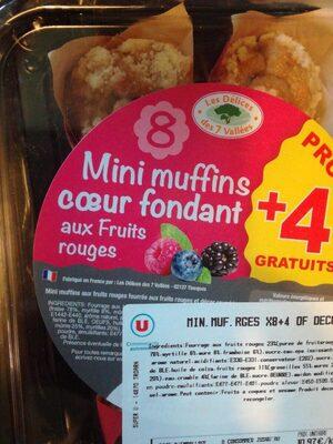 Mini muffins aux fruits rouges - Produit - fr