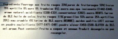 Mini muffins aux fruits rouges - Ingrédients - fr