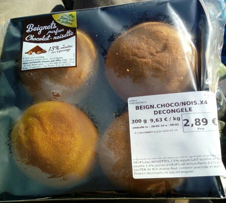 Beignets chocolat noisette - Produit