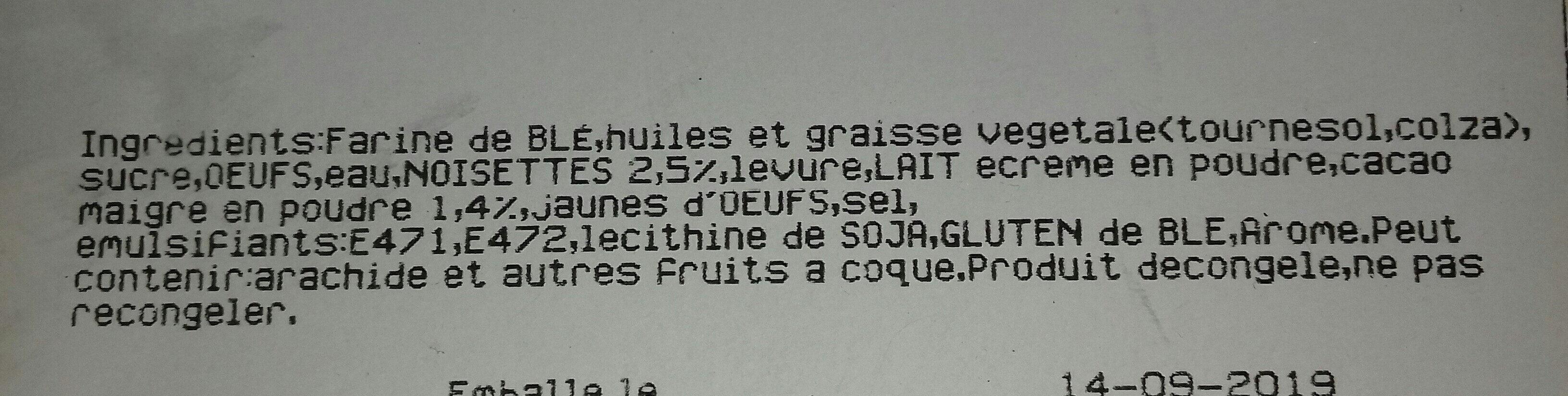 Beignets chocolat noisette - Ingrédients